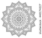 flower mandalas. vintage... | Shutterstock . vector #440174227