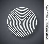 vector fingerprint icon.... | Shutterstock .eps vector #440178997