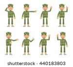set of military man characters... | Shutterstock .eps vector #440183803