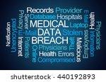 medical data breach word cloud...   Shutterstock . vector #440192893