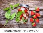 healthy detox water with... | Shutterstock . vector #440195977