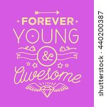 Trendy Colorful Typography Wit...