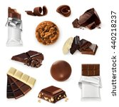 chocolate  vector icon set.... | Shutterstock .eps vector #440218237