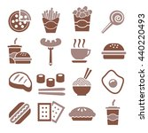 fast food  snack icon set | Shutterstock .eps vector #440220493