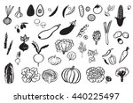 vegetables graphic vector set | Shutterstock .eps vector #440225497