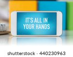 smart phone which displaying it'... | Shutterstock . vector #440230963