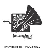 old gramophone  isolated icon...