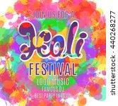 holi festival poster. template...   Shutterstock . vector #440268277