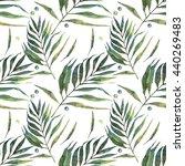 leaves  watercolor  pattern ...   Shutterstock . vector #440269483