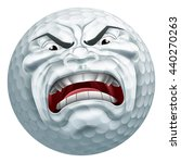 an angry mean looking golf ball ... | Shutterstock .eps vector #440270263
