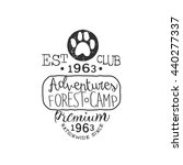 premium adventure club vintage... | Shutterstock .eps vector #440277337