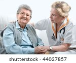 health care worker and senior