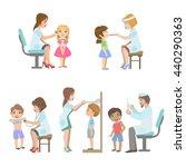 kids on medical examination set ...   Shutterstock .eps vector #440290363