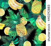 seamless tropical pattern with...   Shutterstock .eps vector #440292883