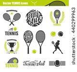 tennis icons. set of tennis... | Shutterstock .eps vector #440299963