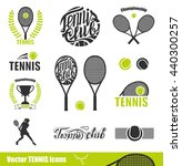 tennis icons. set of tennis... | Shutterstock .eps vector #440300257