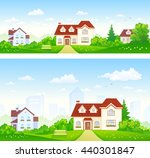 vector illustration of green... | Shutterstock .eps vector #440301847