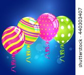 balloons. colorful balloon set. ... | Shutterstock .eps vector #440303407