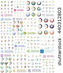huge logo mega set  abstract... | Shutterstock .eps vector #440312803