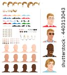 male avatars  in different ages ...   Shutterstock .eps vector #440313043