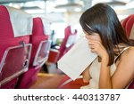 woman feeling unwell and vomit... | Shutterstock . vector #440313787