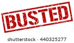 busted stamp.stamp.sign.busted. | Shutterstock .eps vector #440325277