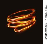 fire blurry circles at motion . ... | Shutterstock .eps vector #440334163