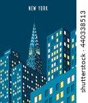 vector illustration. cityscape. ... | Shutterstock .eps vector #440338513
