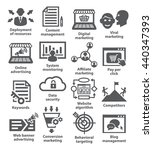 business management icons. pack ... | Shutterstock . vector #440347393