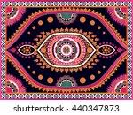 oriental ethnic pattern... | Shutterstock .eps vector #440347873
