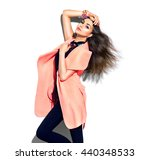 beauty model girl posing in... | Shutterstock . vector #440348533