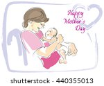 mother s day greeting card.... | Shutterstock .eps vector #440355013