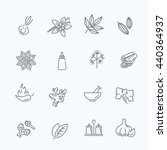 web icon set   spices ... | Shutterstock .eps vector #440364937