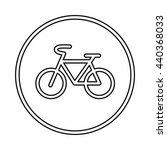 sign bike icon  outline style | Shutterstock .eps vector #440368033