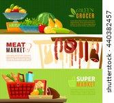 market horizontal banners set...   Shutterstock .eps vector #440382457