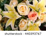 closed up of yellow bouquet | Shutterstock . vector #440393767