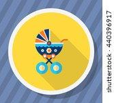baby carriage icon   vector... | Shutterstock .eps vector #440396917