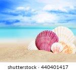 sea shells on the summer beach. ... | Shutterstock . vector #440401417