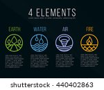 nature 4 elements circle logo... | Shutterstock .eps vector #440402863