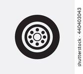 wheel icon | Shutterstock .eps vector #440403043