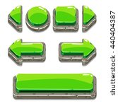 cartoon green stone buttons for ...