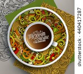 vector illustration with a cup... | Shutterstock .eps vector #440417287