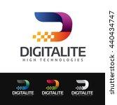 logo of a stylized digital   d  ... | Shutterstock .eps vector #440434747