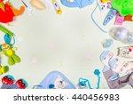 top view set of baby stuff | Shutterstock . vector #440456983