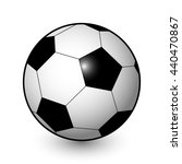 raster realistic soccer ball in ...   Shutterstock . vector #440470867