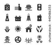 ecology energy icon set 3 ... | Shutterstock .eps vector #440486353
