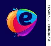 letter e logo in triangle... | Shutterstock .eps vector #440489353