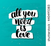trendy lettering poster. hand... | Shutterstock .eps vector #440495383
