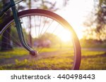 close up photo of bicycle wheel ... | Shutterstock . vector #440498443