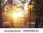 city park lamp at the summer... | Shutterstock . vector #440498533